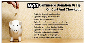 WooCommerce Donation Or Tip On Cart And Checkout