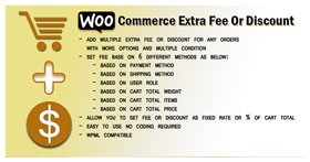 WooCommerce Extra Fee or discount