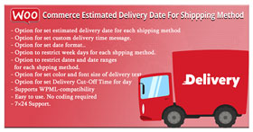 WooCommerce Estimated Delivery Date For Shipping Method